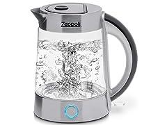 Zeppoli Electric Fast Boiling Teak Kettle. 1.7L