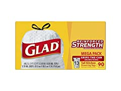 Glad Tall 13 Gallon Drawstring Trash Bag