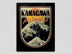 """""""Kanagawa Paradise"""" Metal Poster"""
