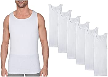 6-Pack Men's Cotton Ribbed Tank Tops