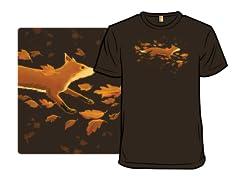 Fox Running Through Fall