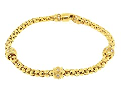 18k Plated Lined Beads Bracelet