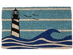 Lighthouse Handwoven Coconut Fiber Doormat