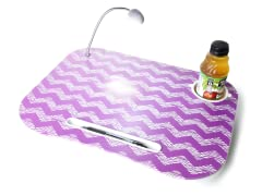 Purple Chevron Laptop Cushion with Light