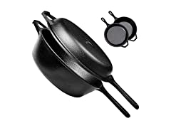Cuisinel Cast Iron 2-In-1 Multi Cooker