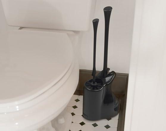 casabella 44857 bowl brush plunger combo black. Black Bedroom Furniture Sets. Home Design Ideas
