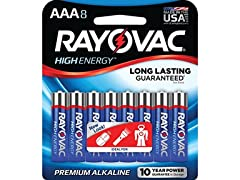 Rayovac AAA Batteries 8-Pack