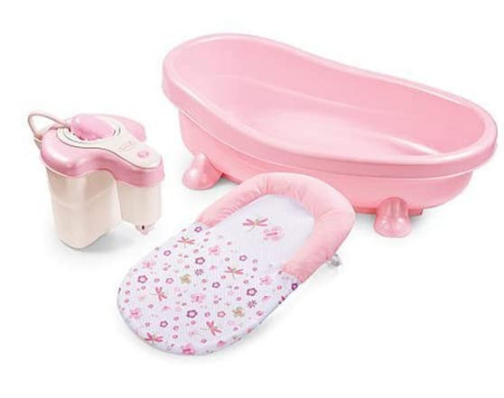 summer infant pink soothing bath tub kids woot. Black Bedroom Furniture Sets. Home Design Ideas