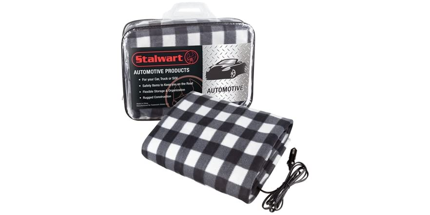 Car Blanket: Stalwart 12V Electric Heated Car Blanket