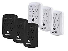 Office + Style Wall Surge Protector - 3 pack