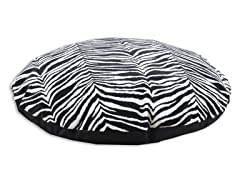 "Zebra Black Simply Soft-PS Black 36"" Round Bed"