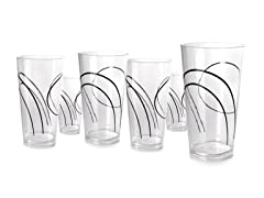 19oz Acrylic Square Glass 6pc set