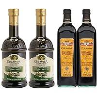 4-Pack Colavita Balsamic Vinegar & Extra Virgin Olive Oil Bundle