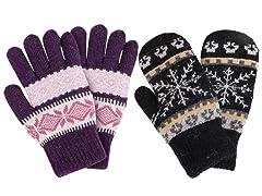 ThunderCloud Women's Winter Gloves Set