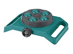 Five Pattern Turret Spray Sled Sprinkler