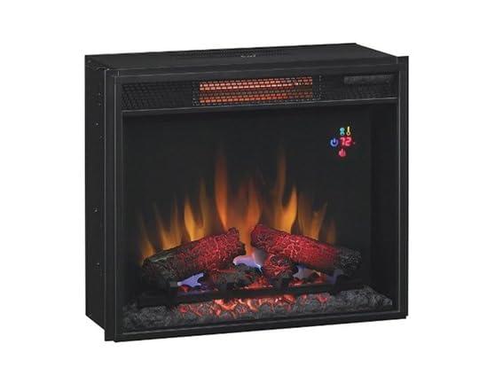 Media Mantel w/Electric Fireplace Insert