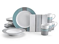Nautica West End Slate 16pc Dinnerware Set