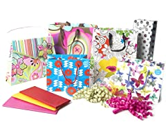 Floral All Occasion Gift Bag Assortment