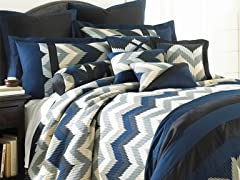 8pc Comforter Set - Reece - 3 Sizes