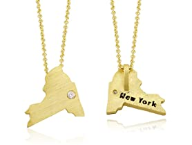 18kt Gold Plated State Necklace