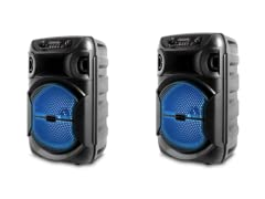 """2 Pack 8"""" Speaker Rechargeable"""