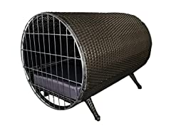Rattan Cylinder Pet Cage