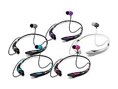 Aduro Amplify Pro Stereo Bluetooth Headset, 2-Pack