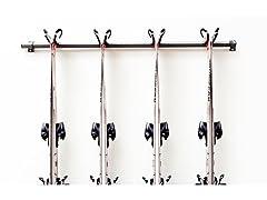 4 Pair Ski Storage Rack