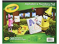 Crayola Alphabet Numbers Pad 30 Sheets