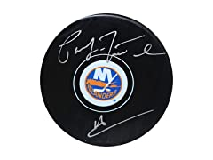 Pat LaFontaine Islanders Signed Puck