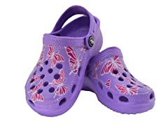 Purple Butterfly Clog
