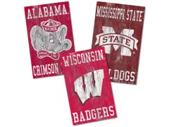 Fan Creations NCAA Heritage Distressed Logo 11x19