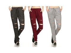 Women's Knit Cutout Jogger Pants