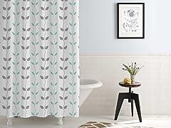 Waterproof Printed Shower Curtain Organic Vines