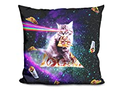 Outer Space Pizza Cat Pillow