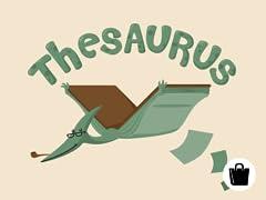 Thesaurus Zip Tote