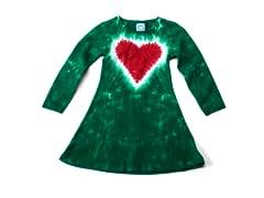 Girls Long Sleeve Dress - Heart
