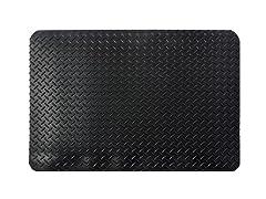 3' Indoor Diamond Mat, Solid Black