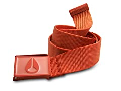 Mono Enamel Wings Belt - Red Pepper