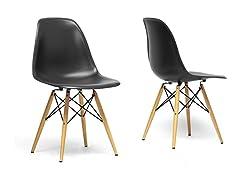 Baxton Studio Azzo Shell Chair - Set of 2