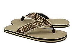 MUK LUKS® Men's Landon Flip Flops, Brown