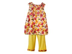 2-Pc Yellow Floral Skimmer Set (2T-4T)