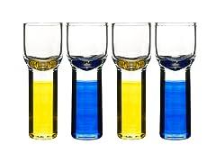 Club Shot Glasses - Set of 4