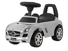 Silver Mercedes SLS Push Car