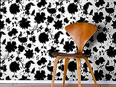 Floral Toile White Tiles
