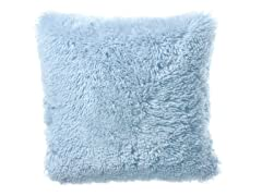 Shaggy Blue Pillow