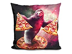Funny Space Sloth With Pizza Pillow