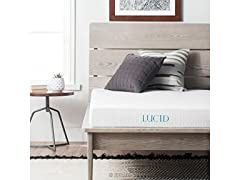 LUCID 5 Inch Gel Memory Foam Mattress - Twin Size