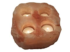 Above Edge Himalayan Salt Tealight Candle Holder-Natural 4 Holes