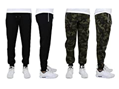 Mens Fleece Jogger Pants w Zip Pocket 2P